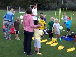 Fußballkindergarten voll angelaufen